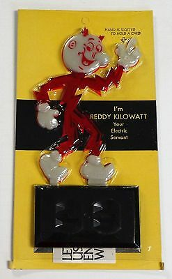REDDY KILOWATT VINTAGE Business card holder. Glow in the dark  ELECTRICIAN GIFT