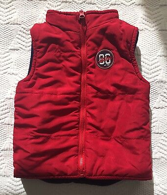 SPROUT Red Vest Size 1 12-18 Months