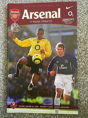 Arsenal v Wigan Athletic  (League Cup Semi-Final) 2005-2006