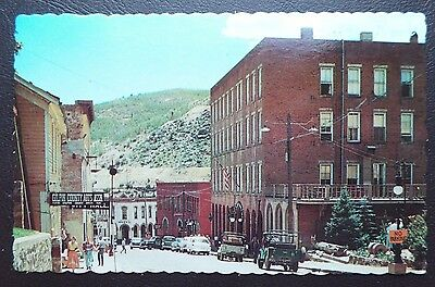 EUREKA STREET & TELLER HOUSE MINING TOWN CENTRAL CITY CO Chrome Postcard 511