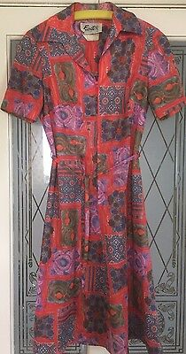 Fab Vintage Retro 1970s Mod Scooter Eastex Summer Dress Size 12