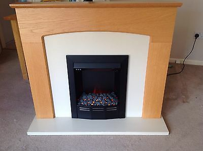 Electric Fire And Modern Surround.