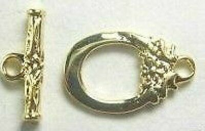 30- Gold-Plated Toggle Clasps 9x12mm-FREE-50 matching earring hooks     (2C1)