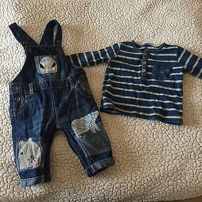 Next Boys Dungarees Age 0-3 Months