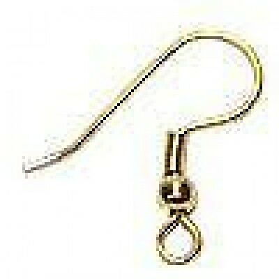 200 - Gold Plated  Earring Hooks+ FREE-100 Free stopper backs          (2A16)