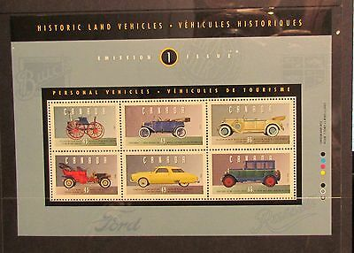 Canada Stamps 1993 Historic land Vehicles sheet MUH