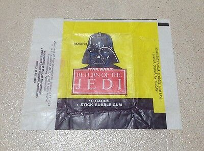 "1983 Scanlens ""Return of the Jedi"" Wax Pack Wrapper (Lord Darth Vader)"