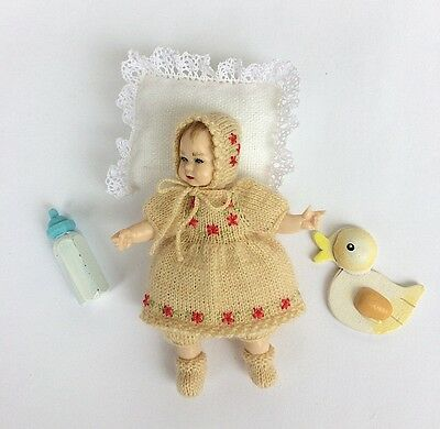 Miniature clothes for Heidi Ott toddler, knitted outfit