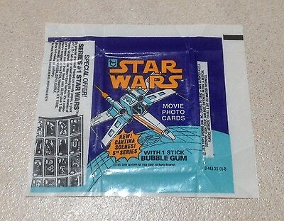 "1977 Topps ""Star Wars - Series 5"" - Wax Pack Wrapper (Special Offer)"