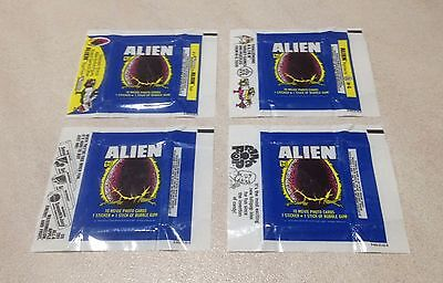 "1979 Topps ""Alien"" - Lot of 4 Wax Pack Wrapper Variations"