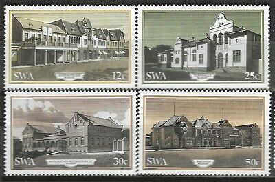 SOUTH WEST AFRICA 1985 Sc#540-4 HISTORICAL BUILDINGS COMPLETE MNH SET 1514