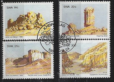 SOUTH WEST AFRICA 1986 Sc#556-9 ROCK FORMATION COMPLETE USED SET 1537