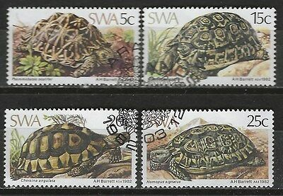 SOUTH WEST AFRICA 1982 Sc#487-90 TORTOISES TURTLES COMPLETE USED SET 1224
