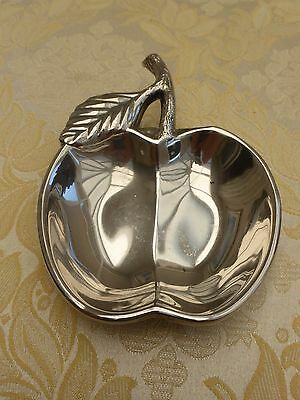 Vintage Silver Plated Apple And Leaf Style Dish   #1270711/715