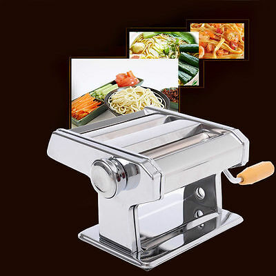 Stainless Steel Adjustable Cutting Pasta Spaghetti Noodle Cutter Maker Machine