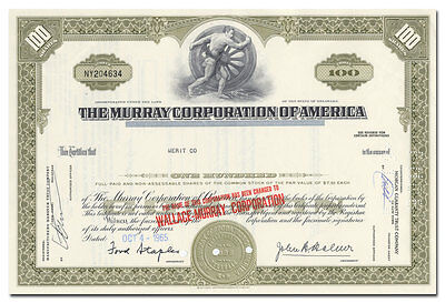 Murray Corporation of America Stock Certificate (Auto Bodies)