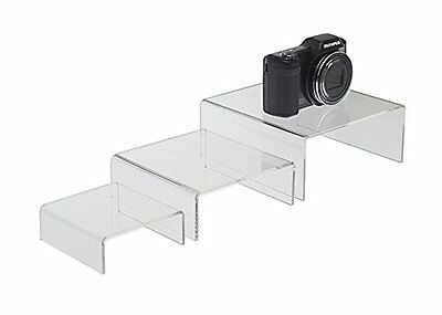 SourceOneOrg Medium 3 1/2 , 4 3/4 , 5 3/4 Set of 3 Low Rise Clear Acrylic Risers