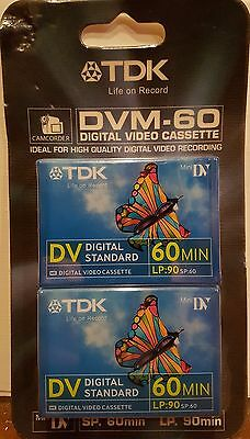 TDK DVM-60 MiniDV Digital Video Cassette Twin Pack