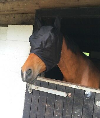 New Horse/Cob/Pony Mesh Fly Mask Hood With Ears Various Colors  Best Seller Sale