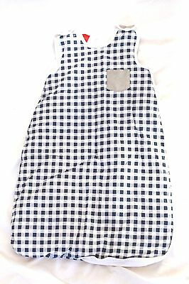 Pumpkin Patch Blue Checkered Sleeping Baby Sleeping Bag Sack 0-6 Months Preloved