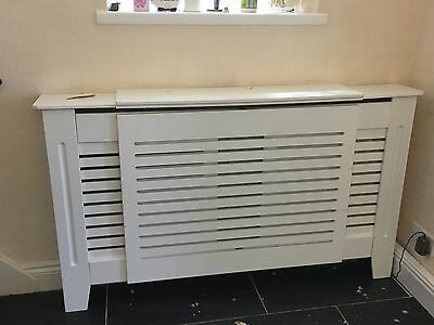Decorative Radiator Cover White Traditional Modern MDF Wood Cabinet and Grill