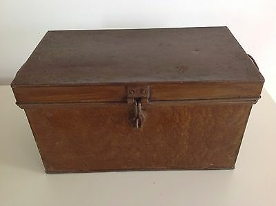Antique Metal Storage Box