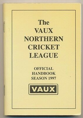 The Vaux Northern Cricket League Handbook Season 1997