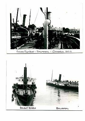 Lot Of Paddle Steamer Photos & Postcards - 9 Items