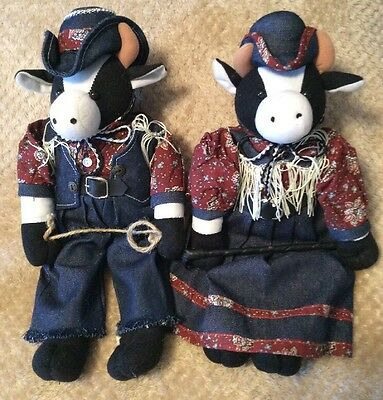 Stuffed Plush Animal Cows Country Cow Dolls Buckaroo Bill Classy and Best Classy