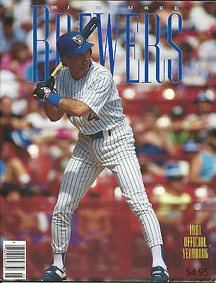1991 Milwaukee Brewers Official Yearbook Robin Yount Paul Molitor Beautiful