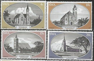 SOUTH WEST AFRICA 1978 Sc#419-22 CHURCHES COMPLETE MNH SET 2332