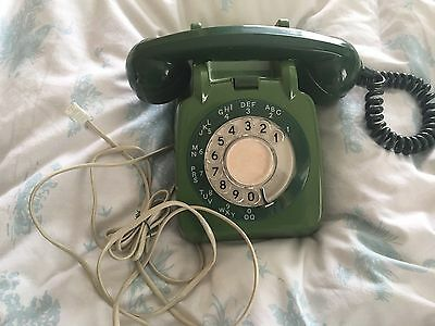 Genuine Vintage Working GPO Dial Green Telephone