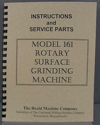 Heald 161 Rotary Grinder Instruction & Parts Manual