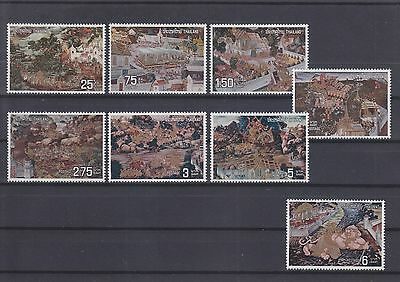 Thailand,Gemälde paintings aus 1973, complete set MNH