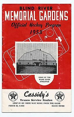 Vintage Sports Memorabilia - 1958 Blind River Hockey Program