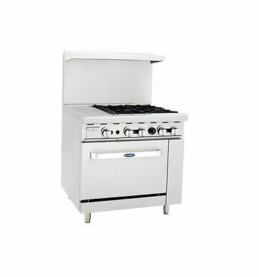 """New Heavy 36"""" Range 12"""" Griddle 4 Burners 1 Full Oven Stove  Lp Prop Gas Only"""