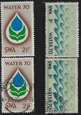 South West Africa 1970 Water Type Of South Africa Complete Mnh & Used Set 2857