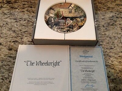 wedgewood the wheelwright collectible plate mint