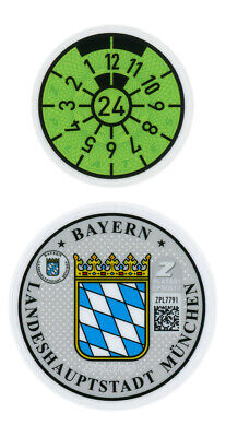 Munich 2021 German License Plate Registration Seal for BMW by Z Plates