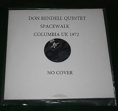 Don Rendell Quintet, Space Walk 1972 Columbia Uk Stereo Lp, No Cover Nm