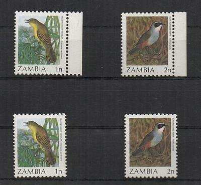 Zambia 4 Stamps 1N & 2 N Unissued Without Ovpt 1987 Mnh Cv 400$