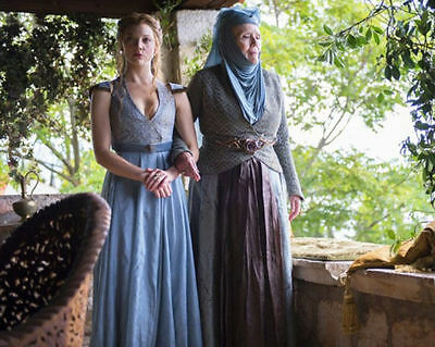 "Natalie Dormer Diana Rigg 10"" X 8"" Photo Margaery Olenna Tyrell Game Of Thrones"