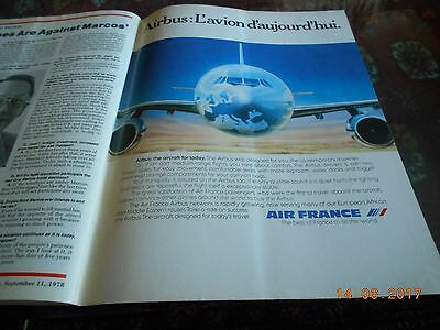 Air France French   Airlines Airways Advert Werbung Newsweek Sept. 78 very rare