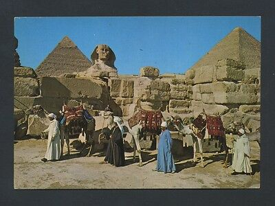 EGYPT - Giza - The Sphinx & Keops pyramid