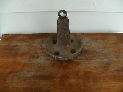 RUSTY VINTAGE 10 lb CAST IRON BOAT ANCHOR NAUTICAL DECOR DOOR STOP