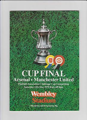 1979  FA CUP FINAL PROGRAMME - ARSENAL v MANCHESTER UNITED