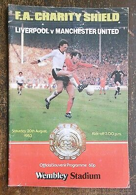 Liverpool V Manchester United (Fa Charity Shield) Football Programme 20-8-1983