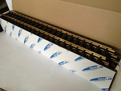 Train Line 10x  60 cm gerades Gleis (Messing) passend zur LGB (also 1 Karton)