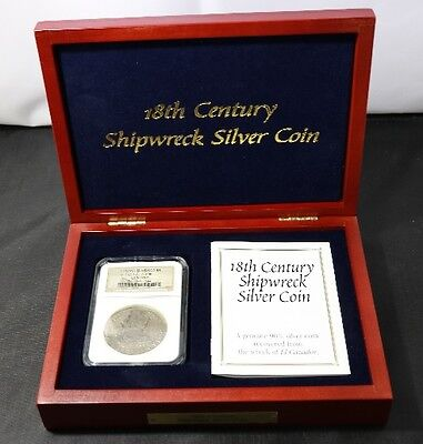 Boxed with Cert 18th Century Shipwreck Silver Coin from the Wreck of El Cazador