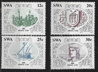 SOUTH WEST AFRICA 1986 Sc#552-5 DISCOVERIES DIOGO CAO COMPLETE MNH SET 2946